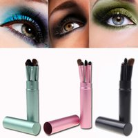 Wholesale 2014 HOT Wholesales Professional Pony Hair Eyeshadow Brushes Set Eye Makeup Tool Cosmetic Kit with Round Tube MAKE UP FOR YOU