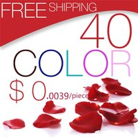 artificial rose petals - Romantic Artificial Silk Rose Petals Home Decorations Petal Flowers Wedding Party Garlands Accessories Gold Red Colors cm MIC