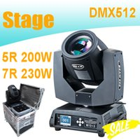 Wholesale Moving Heads Beam Lights DMX Sharpy R W R W With Flight Case For Bar Concert Disco