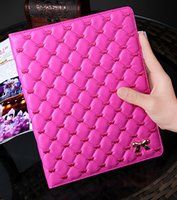 best ipad screen covers - Best luxury flip leather case for Ipad air II holder samrt cover rhombus and double love heart design funda for Apple Ipad6