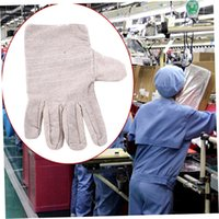 Wholesale 1Pair Antiskid Wear Resistant Full Finger Canvas Working Gloves Protect