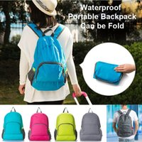 Wholesale 4 Colors Outdoor Travel Portable backpacks Bags Folding Lightweight Waterproof Backpack Sports Bag Riding Skin Bag Storage Backpacks Travel