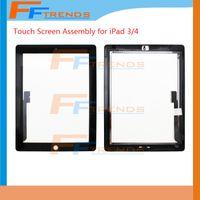 Pantalla táctil para el iPad 2 3 4 iPad3 iPad4 iPad2 Pantalla táctil del digitizador con el botón casero Asamblea Pantalla táctil del reemplazo del vidrio