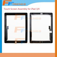 Wholesale Touch Screen For iPad iPad3 iPad4 iPad2 Touch Digitizer Screen with Home Button Assembly Glass Replacement Screen Touchscreen