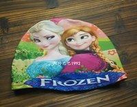 Wholesale Snow Queen Winter Princess Children Shower Cap Swimming Cap Elsa Anna Princess
