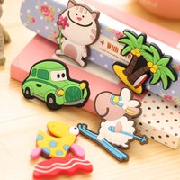Wholesale 12Pieces Creative Cartoon Animals Fridge Magnets Silicon Gel Refrigerator Magnets