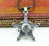 Wholesale Hot Selling Men Vintage Star Pendant Necklace Clavicle chain Chain Necklace Alloy Necklace Chain Men Chokers Men Necklace