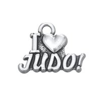 judo - New Fashion Easy to diy i love judo letters charms for bracelet jewelry making fit for necklace or bracelet