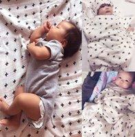 Wholesale 47 INCH Baby Organic Cotton Bamboo Muslin Swaddle Blanket modern burlap multi use ins blanket infant parisarc newborn baby wrap