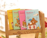 Wholesale NEW cute rilakkuma designs pocket Notebook Notepad Memo Diary jounal lined pages cm