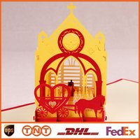 Others amazing samples - DIY D Cards Amazing Wedding Church with Love Carriage Handmade D Pop UP Greeting Cards HQ1249
