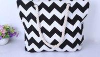 Wholesale Ladies Canvas Beach Shoulder Bag Summer Holiday Tote Shopping Reuseable Handbag beach bag