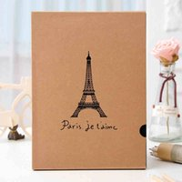 Wholesale A4 size tower print handmade diy paste type picture pthoto albums