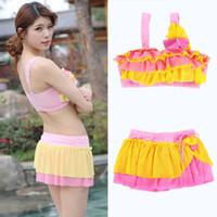Cheap Drop ShippingSexy Lady Push-up Bra Ruffled Swimsuit Bathing Suit Swimwear Bikini Skirts 2PcsFree&Drop Shipping