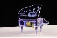 beautiful music boxes - Electronic Music Box Crystal Piano For Girlfriend Women Beautiful Romantic Musical Box Birthday Gift