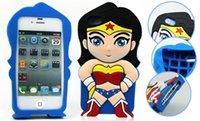 Wholesale HOT SALE D Cartoon Ironman Captain America Spider Man Superman BatMan Batgirl Superhero Soft Silicon Back Cover Case For iphone4s