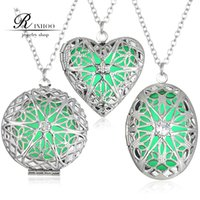 Wholesale rinhoo new glow necklaces steampunk magical pendant antique silver charms glowing in the dark jewelry fashion necklace freeshipping