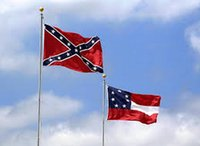 Wholesale Rebel civil war flag confederate national flag flying banners stars and bars first flag