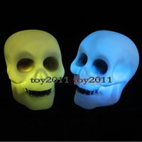 Wholesale Halloween Christmas led lights luces Decoration Skeleton masquerade bar Night supplies Terror Skeleton Lights LED Night Light