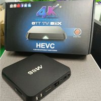 Wholesale Android TV Box smart tv box M8S new Amlogic S812 Quad core Cortex A9r4 GHz Mali450 XBMC GPU K HDMI G G Dual WiFi mxq tv box iptv box