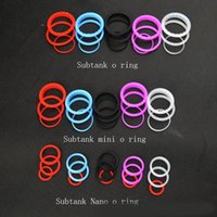 Cheap Free DHL Silicone O ring colorful silicon Seal ring set replacement Oring set for kanger subtank plus mini subtank nano clearomizer atomizer