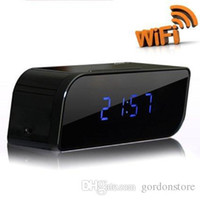 Wholesale wifi hidden camera spy Clocks Camera P2P Camcorder H hiden Camera wifi clock camera night vision spy camera motion