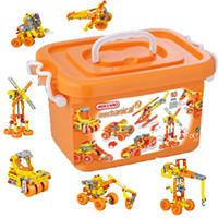 al por mayor wholesale toy cars-al por mayor de juguetes mecano ingeniería kit de construcción mecano juguetes de inteligencia modelo chirstmas regalos car Tornillo combinación de tuerca juguete montaje