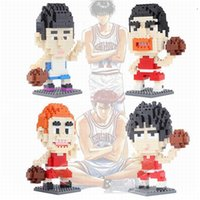 akira movie - 2015 Basketball Anime Slam Dunk Sendoh Akira Diamond Plastic Model Building Block Brick Gift Action Figure Toy