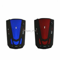 Wholesale Car Detector V7 Car Radar Detector Speed Laser Dector Speed Alarm English Russian Version Blue Red