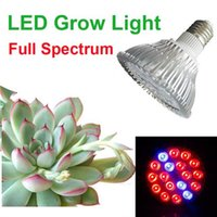 Wholesale Full Spectrum LED Grow Lamp PAR Hydroponic System Vegetables Energy Saving Spotlight W W W W W E27 for Flower Plant Grow Box