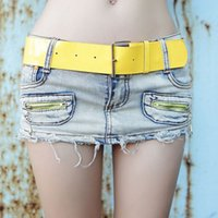 short dress with jeans - 2015 Brand Women Slim Denim Shorts Ultra Short Bust Jeans MiniSkirt Jeans Skirt With Yellow Belts Short Pant Dresses XE0017