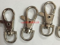 Cheap Free Shipping 3.8cm Nickel Plated Key Rings Lobster Clasps Clips Snap Hooks Keychain Key Ring Metal Key Holder,1000pcs lot