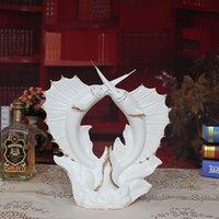 porcelain - Creative Arts Crafts swordfish jade porcelain ceramic ornaments upscale fashion modern home decoration