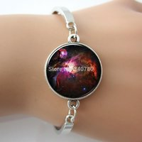 arts friendship - Hot jewelry For Friendship Family Orion Nebula Bracelets Bangles Galaxy Jewelry Glass Cabochon art picture Bangles GL024