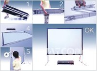 best flight case - Best Large inch Fast Fold Projection Screen aluminum alloy flight case easy move and portable Front screen