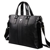 Wholesale handbags shoulder bag leather briefcase men messenger bags business casual mens laptop bag