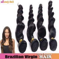 Body Wave brazilian hair bulk - Brazilian Virgin Hair Loose Wave Weft Queen Indian pervuian Hair Bulks weaving or Remy A Grade Human Extension G Hair Bundles