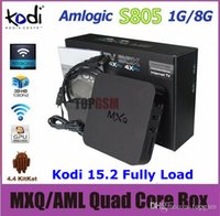 Wholesale Quad Core MXQ Android Media Player Smart TV Box Amlogic S805 MXQ IPTV TV Box With XBMC KODI Fully Loaded Update MXQ TV Box by DHL