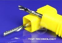 aluminum plate cutter - 5pcs mm DOWN CUTTERS aluminum plate IMPORT single flute wood pvc plastic ACRYLIC ALLOY Mill Carbide CNC Engraving router Bits