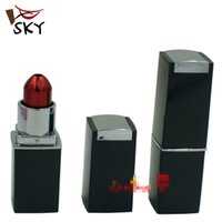 Wholesale SKY Red Purple lipstick portable metal smoking pipes hide style metal pipe portable mini hand metal pipe With Dropshipping MP