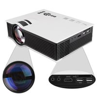 Wholesale UNIC UC40 Korean Projector Mini Pico Portable AV A V USB SD HDMI Projector Support TV Video Game Pocket Projector order lt no track