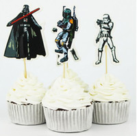 baking decorating supplies - 240pcs Star War Cake Decorating Tools Fruits Cupcake Inserted Card Stands Baking Supplies for Kids Birthday Xmas Decoration