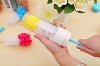 Wholesale New Milk Bottle Brush Nipple Brush Baby Milk Bottle Nipple Teapot Nozzle Spout Tube Teat Cleaning Bottle Brush