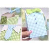 baby shower shirts - Baby Shower Gift Favor Boxes My Little Man D Bow Tie Shirt Candy Box Brand New Good Quality