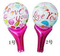 air gif - 50pcs alumnum balloons Festival party supplies Explosion models The new hand held toy balloons pat punching air balloon Valentine s Day gif