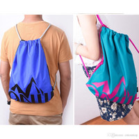 Wholesale Hot Sale New Sport Drawstring Backpack Cinch Sack Pack Gym Travel School Kids Feminina Travel Draw String Bag High Quality Storage Bags Y11