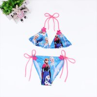 Wholesale 2015 High Quality Lovely printing Child Bikini swimsuit swimwear bathing suit for girls kids bikini children swimwear