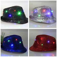 angels baseball hats - Led Hat LED Unisex Lighted Up Hat Glow Club Party Baseball Hip Hop Jazz Dance Led Light Hat Cowboy Carnival Fashion Performance Hat