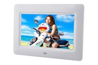mp4 jugador de alarma al por mayor-Nuevo 7inch ultrafino HD TFT-LCD Digital Photo Frame reloj de alarma MP3 MP4 Movie Player con escritorio remoto