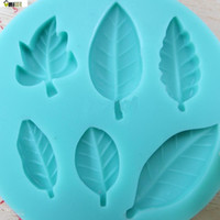 Wholesale NEW D Cupcake Silicone Mold Leaves Chocolate Fondant Bakeware DIY Decorating Tool Baking Mold